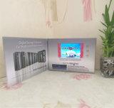 A4 modificado para requisitos particulares carpeta video del librete del folleto del Hardcover del interruptor del imán de 5 pulgadas para la invitación, hacer publicidad o la promoción