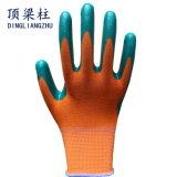 Shell-Nitril-überzogene Sicherheits-Handschuhe des Polyester-13G mit Cer