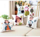 綿のキャンバスのウールの刺繍Decoration クッションカバー枕箱の花デザインカートン様式