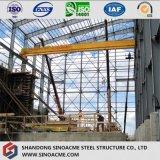 Тяжелое здание стальной рамки для Worshop с краном 20 тонн
