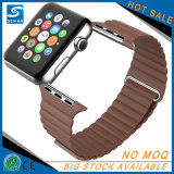 Appleの腕時計のためのブラウンカラー革時計バンド