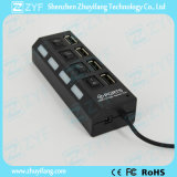 4 commutateurs 4 LED 4 ports USB Hub 2.0 (ZYF4231)