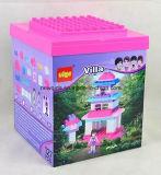 ピンク127PCS別荘の男の子および女の子のためのプラスチックおもちゃの煉瓦