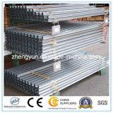 Clôture de tuyaux en acier soudé, tuyau en acier galvanisé, tube en acier au carbone