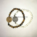 Semi-precioso Stone Tiger Eye Howlite Beaded Bracelet
