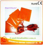 Verwarmer 140*140*1.5mm van het silicone 220V 100W Zelfklevend 4mm Gat