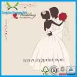 Cartão romântico luxuoso feito sob encomenda do convite do casamento da fábrica