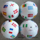 Le football en caoutchouc Soccerball d'usine des prix de jouet coloré bon marché respectueux de l'environnement de prix bas