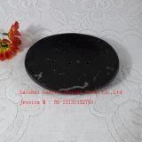 Каменная тарелка мыла/черная мраморный тарелка мыла