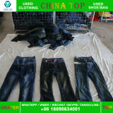 Großverkauf emballiert 100kg Korea Art verwendeten Kleidung verwendeten Jeans-heißen Verkauf in Indien