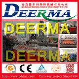 Chaîne de production creuse de feuille de toiture de PVC pour le propriétaire de l'Indonésie. Feuille creuse de toiture de PVC
