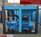 Compresseur d'air à deux étages de vis de conversion de fréquence de graissage de jet de pétrole