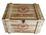 Paste de Uitstekende Uitstekende kwaliteit van de Stijl van Schotland Houten Doos voor Wijn aan