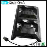 Ventilador de la consola del juego video con el eje del USB 4 y muelle dual de la estación del cargador para el xBox uno delgado