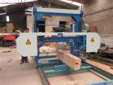 Портативная горизонтальная машина лесопилки тимберса ленточнопильного станка