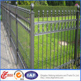 2400*1800mm Ornamental Commercial Aluminum Fence с перилами Three