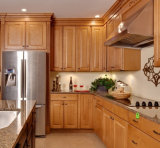 A madeira contínua nova de projeto moderno escondeu a mobília da cozinha da corrediça da gaveta