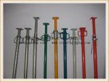 塗られる支柱、足場システムのための金属の支注の支柱を支えること