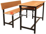 Sala de aula Furniture Double Student Table com Chairs