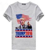 T-shirt d'élection de campagne d'impression d'écran d'OEM de coton pour la promotion