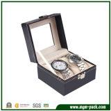Caixa de relógio de couro feita sob encomenda do produto 2017 novo