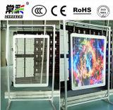 Bandera transparente/de cristal P7.5-8 del anuncio de la cartelera de la pantalla de visualización de LED