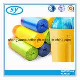 PE Plastic Biologisch afbreekbare Vuilniszak Drawstring met Verschillende Kleur