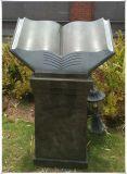 Pedestais religiosos Marcadores de cremação Pedras de cremação Livros Pedestais no cemitério