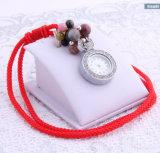 合金のダイヤモンドの碧玉の方法装飾のナイロンコードのハンドメイドの腕時計