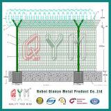 Загородка авиапорта сваренной сетки службы безопасности аэропорта y сваренная столбом покрынная Fence/PVC