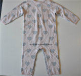Runder Stutzen gekopierte Knit-Overall-Strickjacke für Kinder