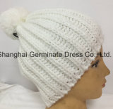Горячий продавая шлем способа при зима Pompom Hjb036