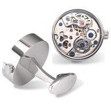 Kundenspezifische Uhr-Manschettenknöpfe mit Glasdeckel Wm-891 bilden