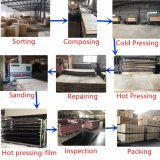 le film Shuttering antidérapage de bouleau de 21X1250X2500mm Brown a fait face au contre-plaqué pour l'étage de camion de construction