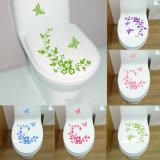 Decalcomanie degli autoadesivi della parete della decorazione della casa della stanza da bagno del fiore di farfalla