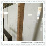 Lajes de mármore artificiais brancas de quartzo para bancadas da cozinha