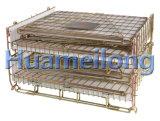 Складывая Stackable клетка хранения пакгауза провода Preform любимчика
