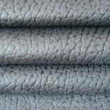 Tissu de suède micro de cuir gravé en relief pour la décoration à la maison