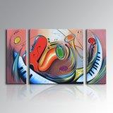 Pintura abstracta simple de la pared del 100% del arte moderno hecho a mano de la decoración (XD3-197)
