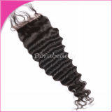 I capelli brasiliani diritti del Virgin candeggiati annodano la chiusura superiore di separazione del merletto 3