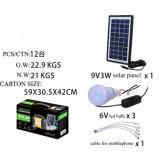Indicatore luminoso solare della casa a energia solare LED del sistema degli indicatori luminosi del sistema solare con il caricatore del telefono