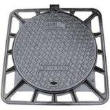 En124 D400 둥근 무쇠 빗물 맨홀 뚜껑