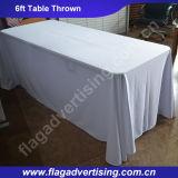 Fabrik-Großhandels-Polyester-Messeen-Tisch-Deckel, Tisch-Tuch bekanntmachend