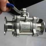 3PC Stainless Steel Ball Valve con Clamp Estremità