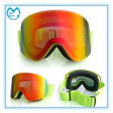 平らなパソコンレンズのスキー用マスクはノーズ・ガードが付いているゴーグルを遊ばす