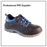 Zapatos de seguridad de acero genuinos de la punta del cuero S1p
