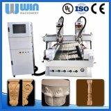 Multi Kopf-Drehmittellinie hinzugefügter Holzbearbeitung CNC-Fräser-China-Preis