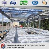 金属のプラットホームのためのマルチ床の鉄骨フレームの構造