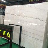 Mármore branco de Guangxi da alta qualidade, telha grande da laje