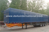 Dei 3 Axles Blue Van Type Straight del fascio rimorchio semi senza parte superiore